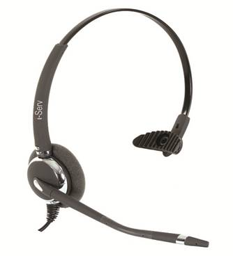 i-Serv 031NC - noise cancelling wired headset including QD cord
